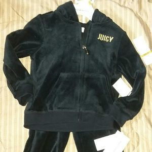 Juicy couture 2pc 3T hoodie jogger set